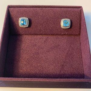 David Yurman Blue Stud Earrings